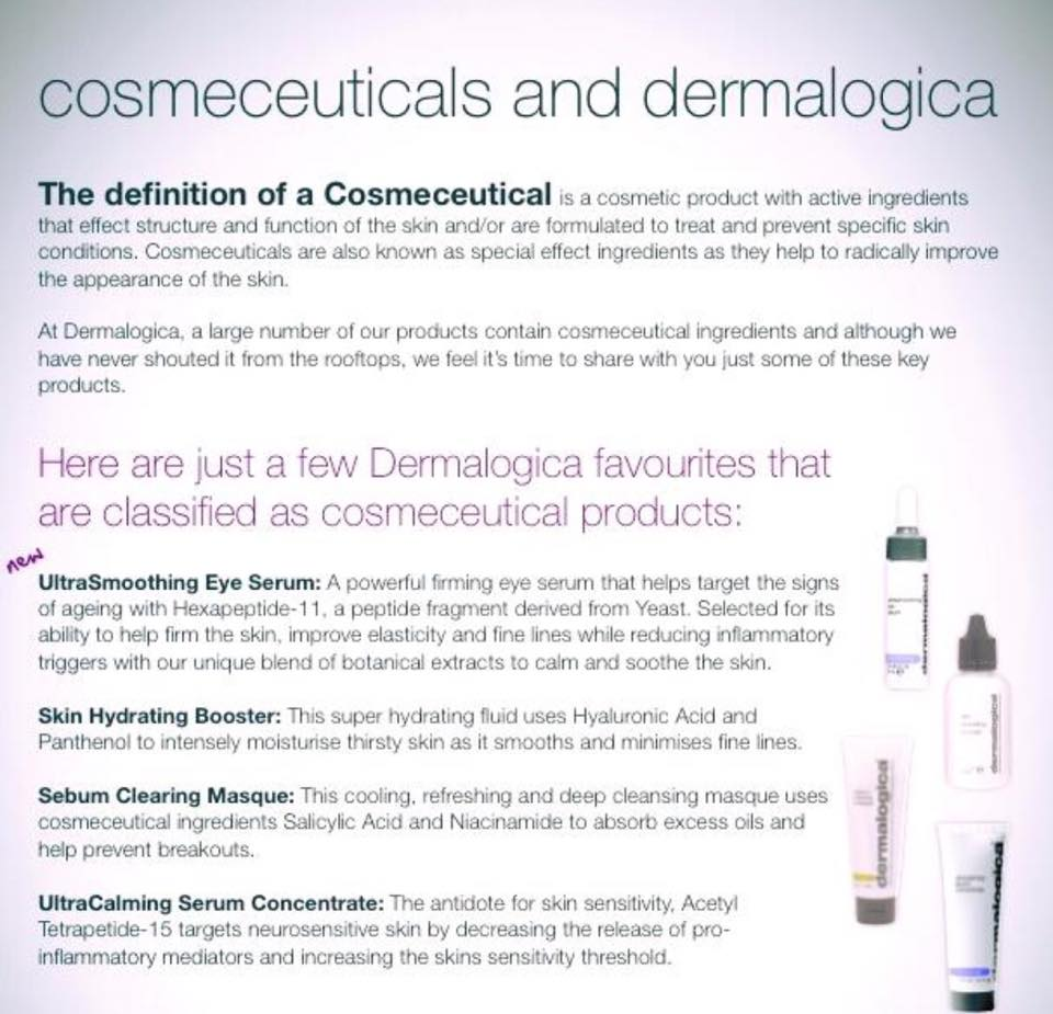 cosmoceuticals and dermalogica